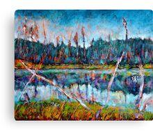 North of Quebec Taiga Landscape Canvas Print