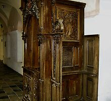 historic confessional by Grazyna W.