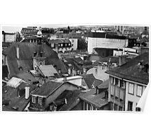 Lausanne Rooftops. Canton Vaud, Switzerland Poster