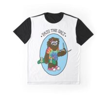 Pass The Salt - Stoner Sloth Graphic T-Shirt