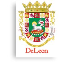 DeLeon Shield of Puerto Rico Canvas Print
