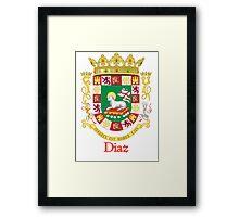 Diaz Shield of Puerto Rico Framed Print