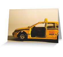 Destroyed New York Taxi Greeting Card