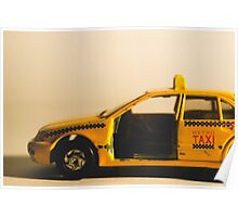 Destroyed New York Taxi Poster