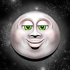 Full Moon Smiling Face 3D  by BluedarkArt