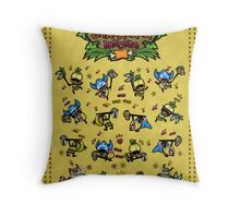 Shakalaka Dancers Throw Pillow