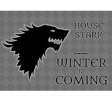 House Stark - Winter is Coming Photographic Print