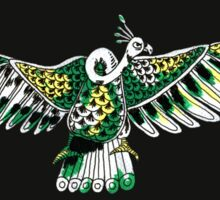 Green Vulture Bird Guy Sticker
