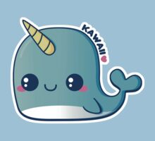 Kawaii Blue Narwhal Kids Clothes
