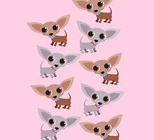 Mini Chihuahuas - pink by BonniePortraits