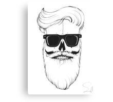 Ray's bearded skull Canvas Print