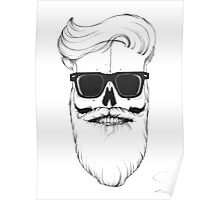 Ray's bearded skull Poster