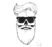 Ray's bearded skull Photographic Print