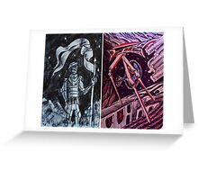 """Ink Sketches - """"The Guardian"""" and """"The Future"""" Greeting Card"""