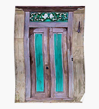 Weathered Wood Door of the Caribbean II Poster