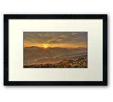 A sunset at Sarangkot Framed Print