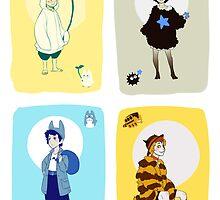 Ghibli Gijinkas by TEAMJUSTICEink