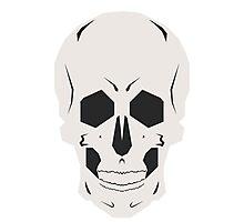 Simplistic Symmetrical Skull Design Photographic Print