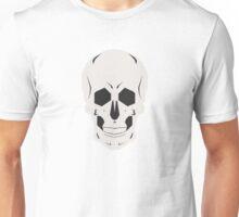 Simplistic Symmetrical Skull Design Unisex T-Shirt