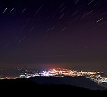 Pokhara by night by Brian Decrop