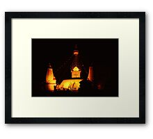 Swayambhunath at night Framed Print