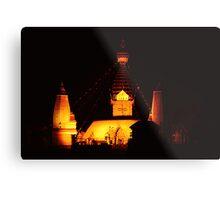 Swayambhunath at night Metal Print