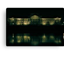 Dresden - View at the Saxony's state ministry for finances Canvas Print