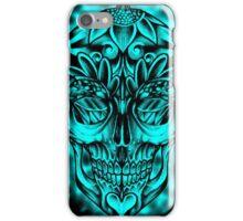 Candy skull cyan iphone case iPhone Case/Skin