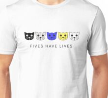 Fives Have Lives - Level 5 MeowMeowBeenz Unisex T-Shirt