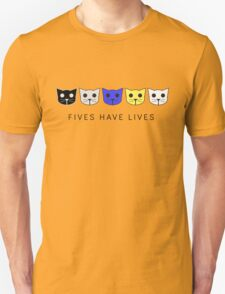 Fives Have Lives - Level 5 MeowMeowBeenz T-Shirt