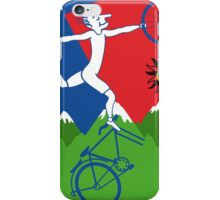 Hoffman Flips Out Bikeride LSD Acid Psychedelic iPhone Case/Skin