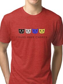Fours Have Chores - Level 4 MeowMeowBeenz Tri-blend T-Shirt