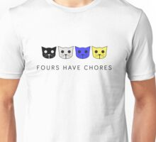Fours Have Chores - Level 4 MeowMeowBeenz Unisex T-Shirt