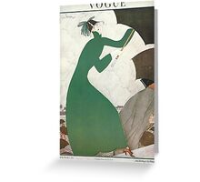 Vogue Cover 1921 Parasol by Lepape Greeting Card