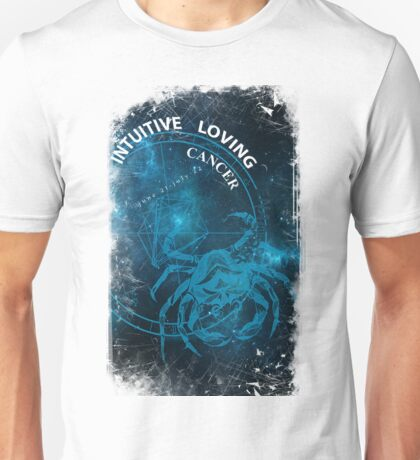 Cancer- Intuitive, loving and Tenacious Unisex T-Shirt