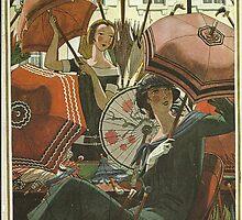 Vogue Cover 1924 Parasols by Vintageprints53