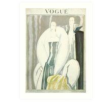 Vogue Cover 1921 Fur Coat Art Print