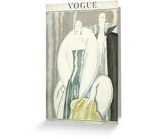 Vogue Cover 1921 Fur Coat Greeting Card