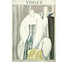 Vogue Cover 1921 Fur Coat Photographic Print