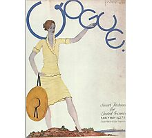 Vogue Cover 1927 Sun Hat Photographic Print