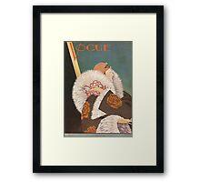 Vogue Cover Fur Coat Framed Print