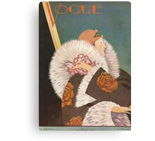 Vogue Cover Fur Coat Canvas Print