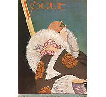 Vogue Cover Fur Coat Photographic Print