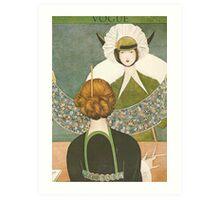 Vogue Cover 1917 Lace Bonnet Art Print