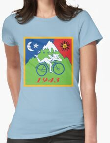 LSD Acid Hofmann Bike ride Blotter Art Psychedelic Womens Fitted T-Shirt