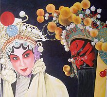 Beijing Opera Characters 2 by Joseph Barbara
