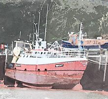 Ilfracombe Harbour trawler by montmin