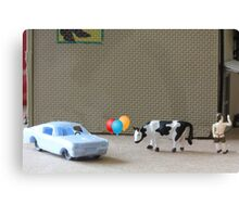 English is a difficult language!  Here are some examples of dipthongs:  car, balloon, cow, Delbert's. Canvas Print