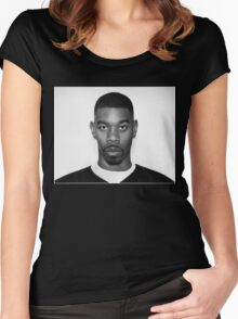 Andre Nickatina Headshot Women's Fitted Scoop T-Shirt
