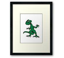 Dragon funny design cool comic Framed Print